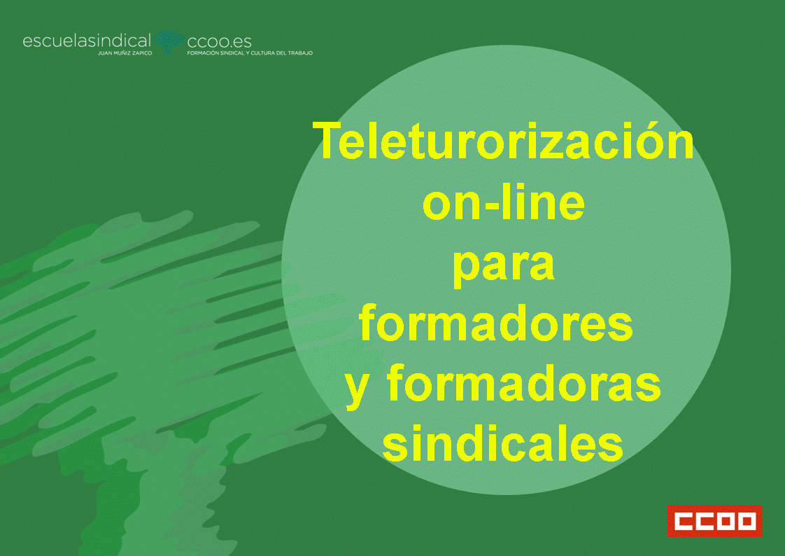Teletutorización on- line para formadores y formadoras sindicales