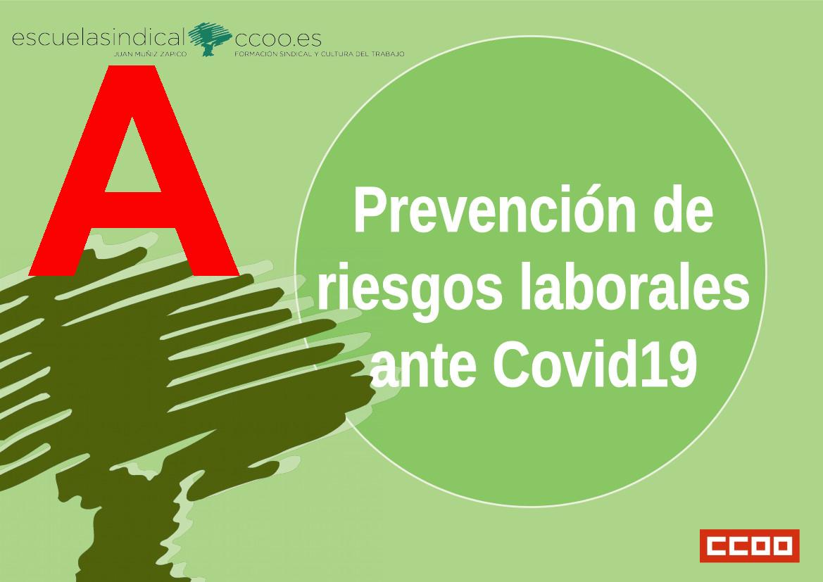 Prevención de riesgos laborales ante el COVID19
